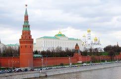 莫斯科克里姆林宫全景。 免版税库存图片
