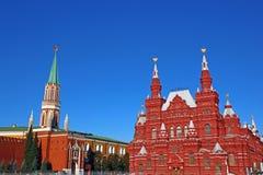 莫斯科克里姆林宫和历史博物馆在莫斯科 免版税库存图片
