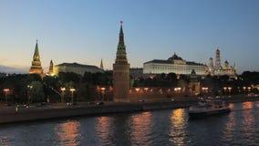 莫斯科克里姆林宫在晚上 影视素材