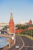 莫斯科克里姆林宫的堤防 免版税库存图片