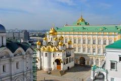 莫斯科克里姆林宫的大教堂 免版税库存图片