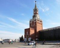 莫斯科克里姆林宫的Spasskaya塔 免版税库存图片
