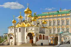 莫斯科克里姆林宫通告大教堂 免版税库存照片