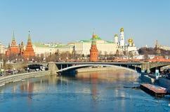 莫斯科克里姆林宫,俄国 免版税库存图片
