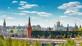 莫斯科全景和克里姆林宫 免版税库存图片