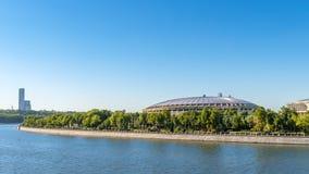 莫斯科全景在夏天 免版税库存照片
