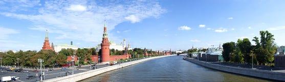 莫斯科全景 克里姆林宫 库存图片