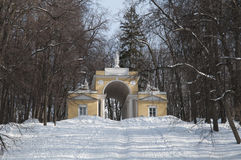 莫斯科公园亭子tsaritsino 库存照片