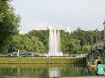 莫斯科公园喷泉 库存图片