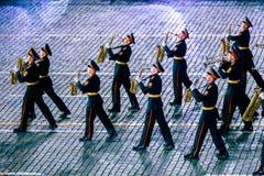 莫斯科军乐学院的带从俄罗斯的红场的 免版税库存照片