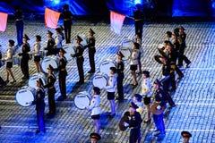 莫斯科军乐学院的带从俄罗斯的红场的 库存照片