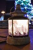 莫斯科冬天圣诞节装饰,俄罗斯 库存照片