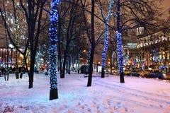 莫斯科冬天装饰,俄罗斯 库存图片