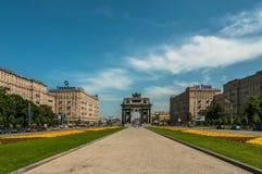 莫斯科凯旋门 免版税库存照片