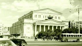 莫斯科创立1962年的莫斯科大剧院 免版税库存照片