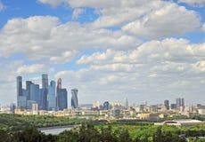 莫斯科和莫斯科城市全景  库存图片