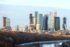 莫斯科国际商业中心(MIBC)在春天 免版税图库摄影