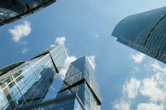 莫斯科国际商业中心(MIBC) 资本和Naberezhnaya塔城市 图库摄影