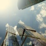 莫斯科国际商业中心(MIBC) 资本城市看法和Naberezhnaya耸立 免版税库存图片