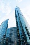 莫斯科国际商务中心,莫斯科城市 位于在第三条环行路附近, M 免版税库存图片