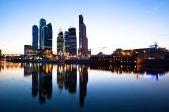 莫斯科国际商务中心 免版税库存照片