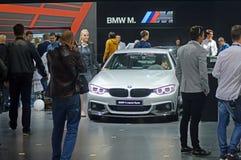 莫斯科国际汽车沙龙BMW第四个系列 小轿车 免版税库存图片