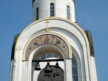 莫斯科圣乔治教堂钟2011年5月 库存图片