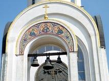 莫斯科圣乔治教堂钟2011年 库存图片