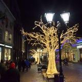 莫斯科圣诞节装饰,俄罗斯 库存图片