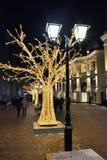 莫斯科圣诞节装饰,俄罗斯 免版税图库摄影