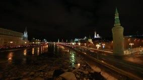 莫斯科在夜之前 股票视频