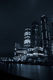 莫斯科在晚上在冬天 免版税库存图片