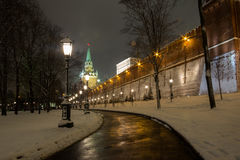 莫斯科在晚上 库存图片