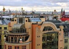 莫斯科地平线,顶视图 免版税库存图片