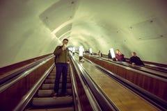 莫斯科地铁车站 免版税库存照片