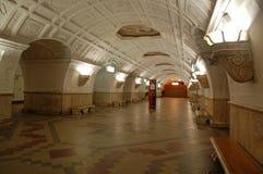 莫斯科地铁,岗位Belorusskaya 免版税图库摄影