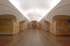 莫斯科地铁,驻地Shosse Entuziastov inerior  免版税库存照片