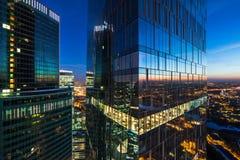 莫斯科城市企业区域 库存图片