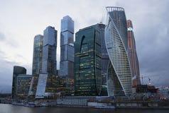 莫斯科城市在边界夜 俄国 库存图片
