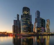 莫斯科城市地平线 莫斯科市,俄国 免版税库存照片