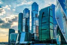 莫斯科城市摩天大楼  图库摄影