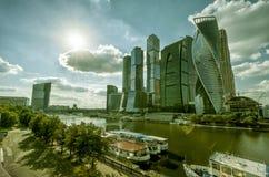 莫斯科城市摩天大楼  免版税库存照片