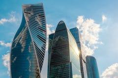 莫斯科城市摩天大楼  库存图片