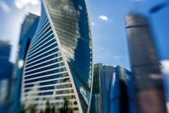 莫斯科城市是商业区在中央莫斯科 免版税库存照片