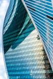 莫斯科城市螺旋摩天大楼 免版税库存照片