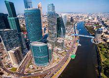 莫斯科城市鸟瞰图  免版税库存图片