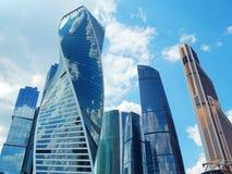 莫斯科城市-一个国际商业中心在莫斯科 免版税库存照片