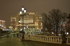 莫斯科夜 免版税库存图片
