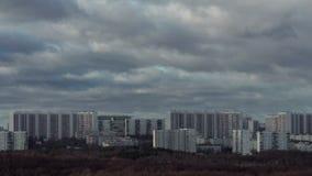 莫斯科大厦和云彩 股票录像