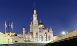 莫斯科大教堂清真寺,俄罗斯--主要清真寺在莫斯科 免版税库存照片